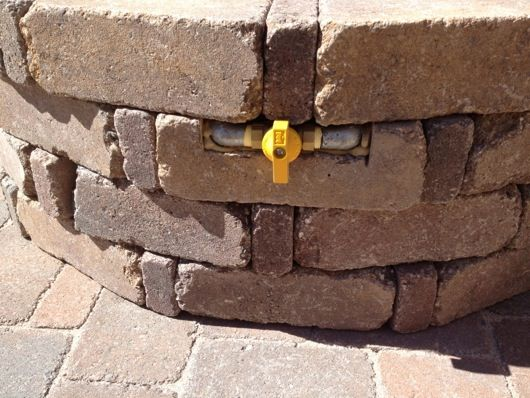 Backyard Propane Fire Pit Pavers And Outhouse Project With