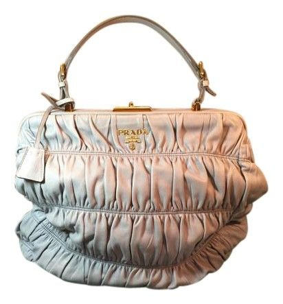 101e09b99f6e Prada Gaufre Nappa Leather Goldtone Frame Grey Tote Bag. Get one of the  hottest styles
