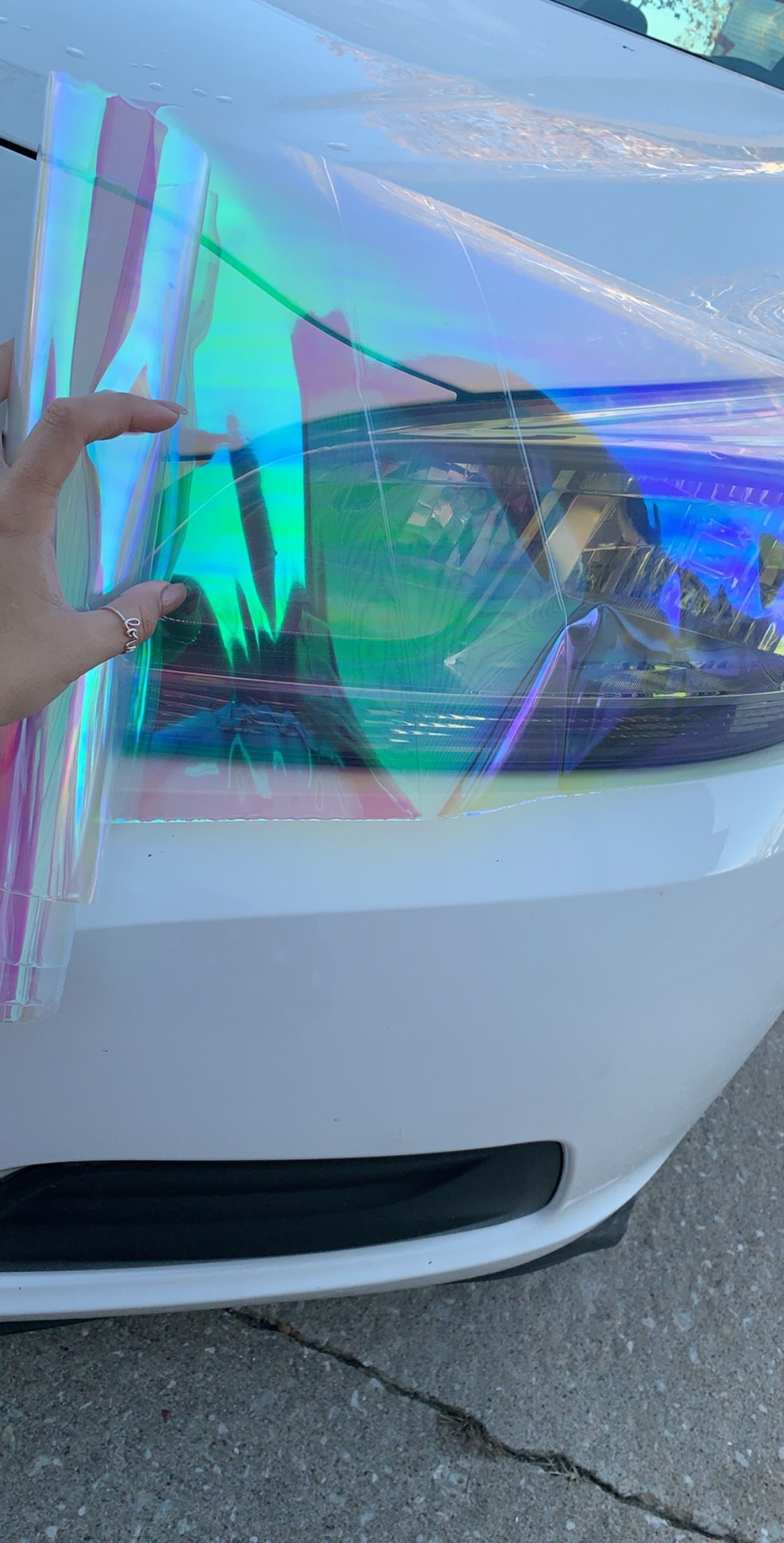 Neo Chrome Headlight Tint In Chameleon Pearl Car Accesories Cute Car Accessories Pretty Cars