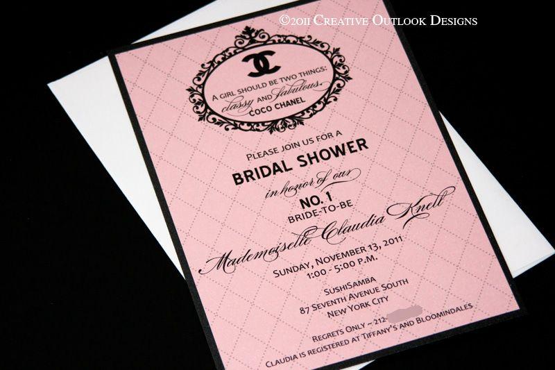 Coco Chanel Bridal Invitation