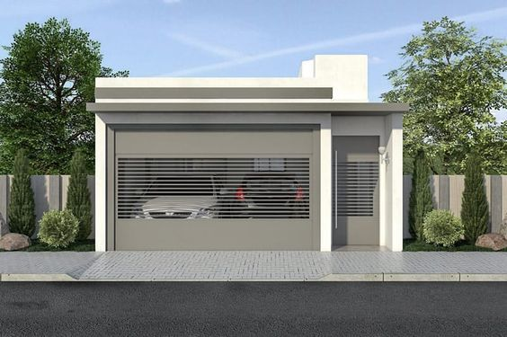 Modelos de portones para fachadas de casas