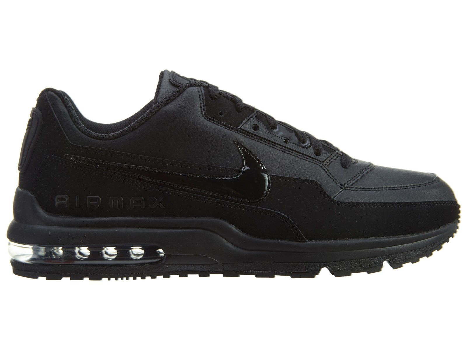 1472488ec92d Nike Air Max LTD 3 Mens 687977-020 Black Leather Athletic Running Shoes  Size 9