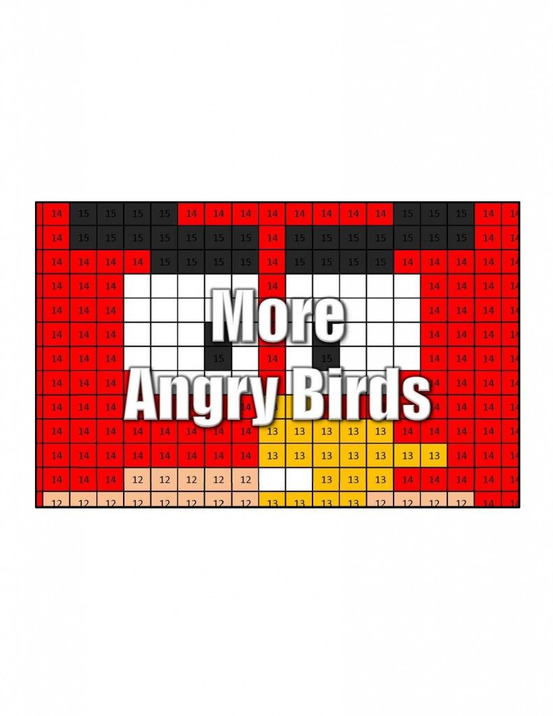 Angry Birds Minecraft Disney Other Math Coloring Pages