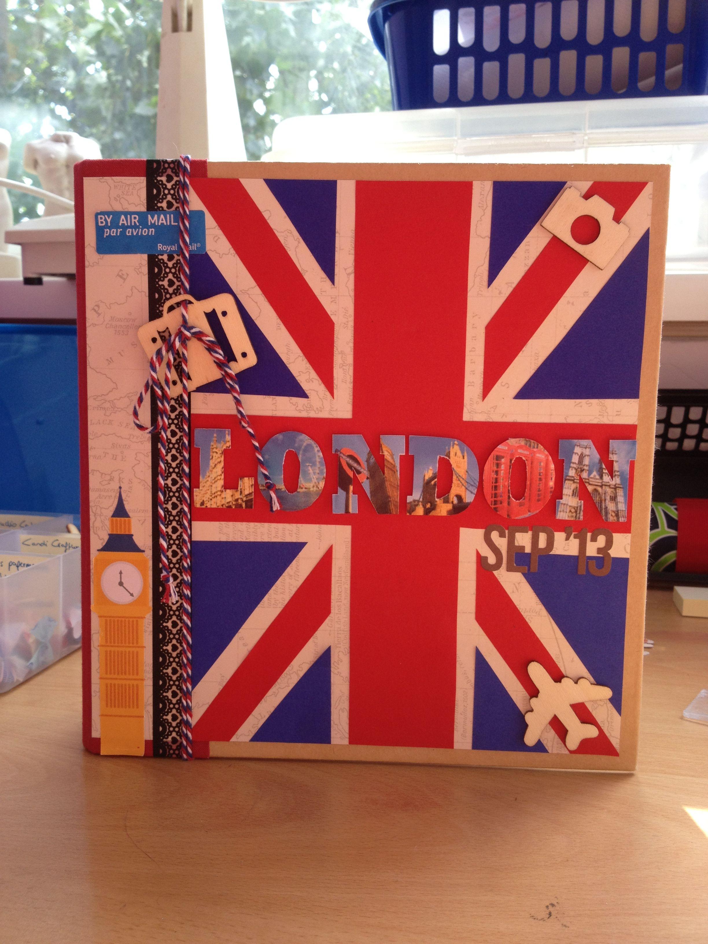 Scrapbook paper england - London Scrapbook Cover Simple Stories Snap Album