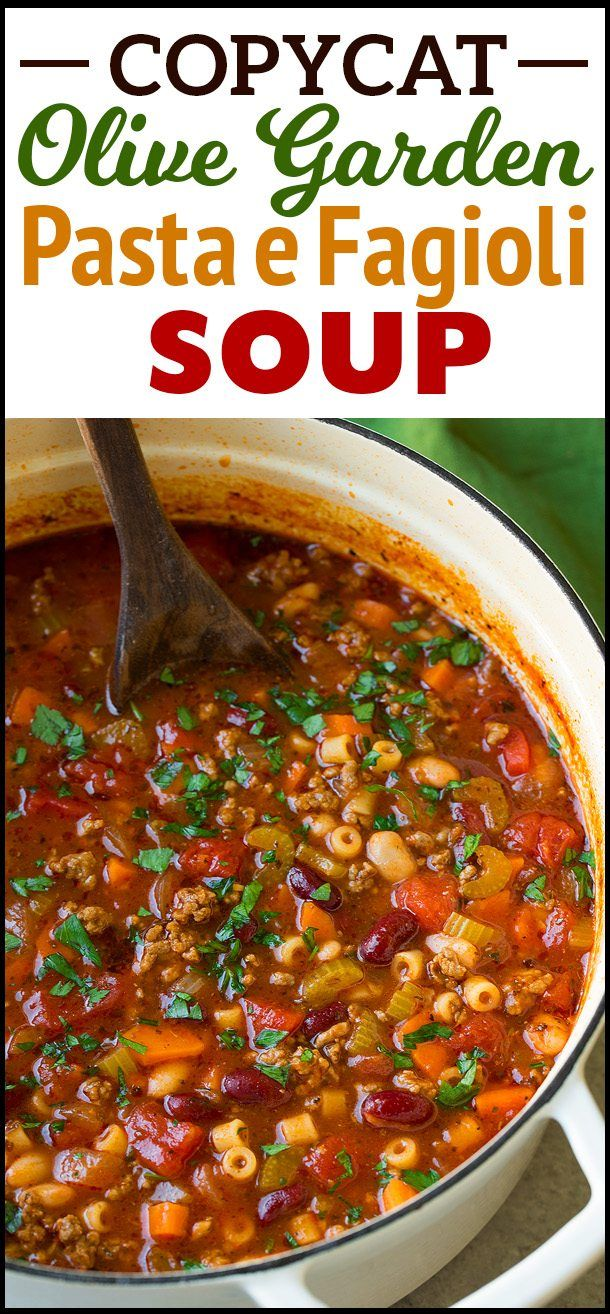Pasta e Fagioli. This delicious and comforting recipe is an olive ...