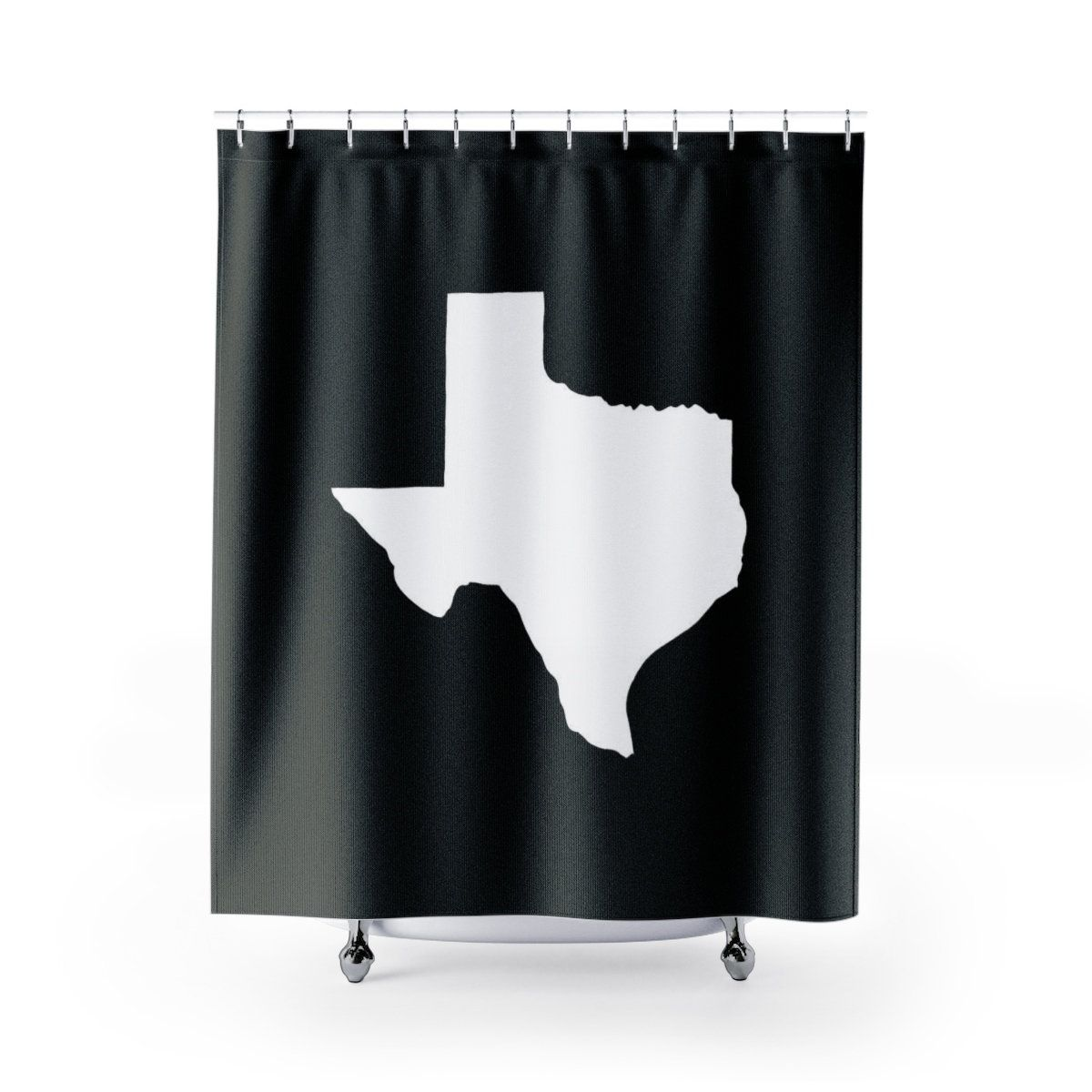 Black And White Texas Shower Curtain Black White Shower