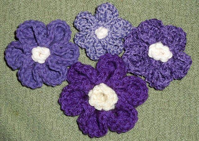6 Petal Flower Pattern Crochet Pinterest Crafty Flower And