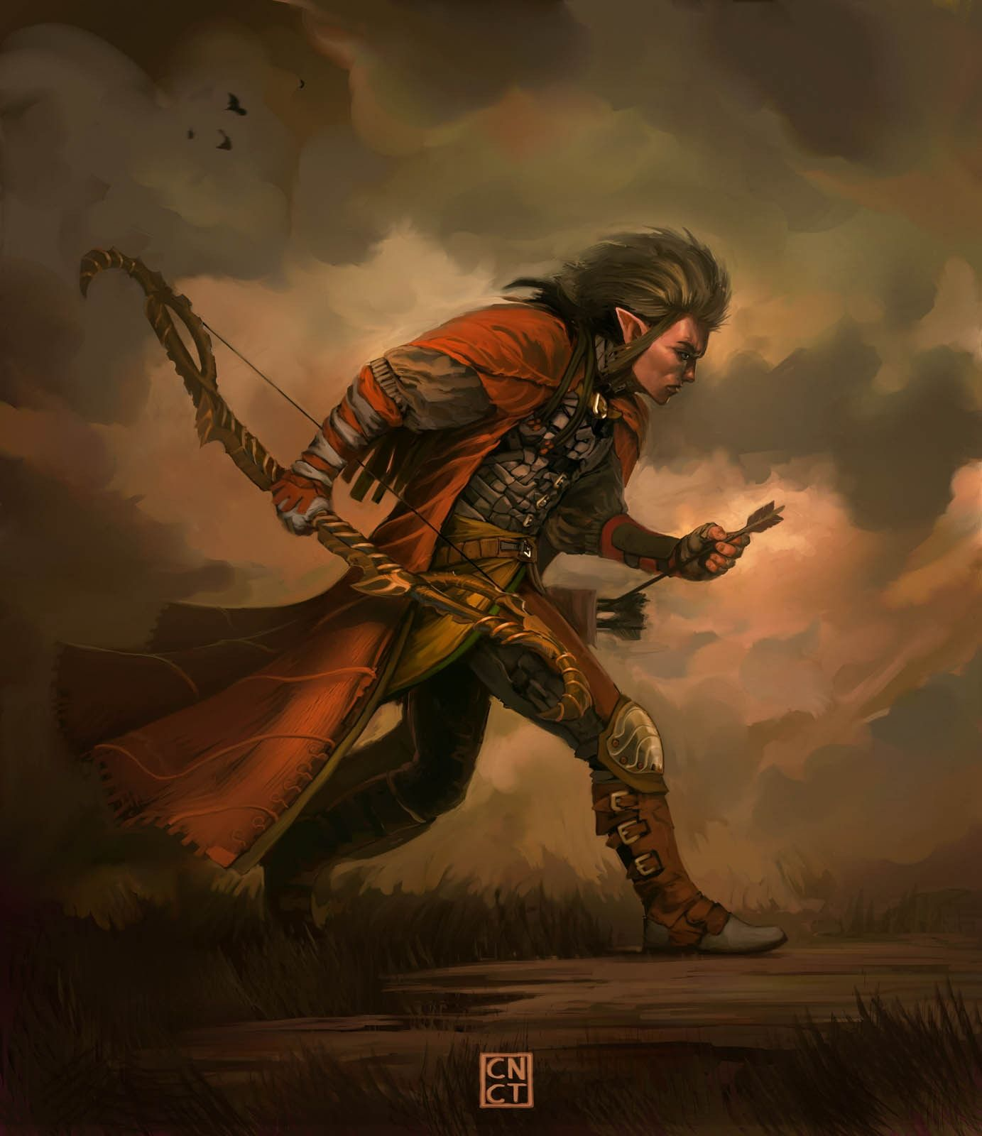 Scout Picture (2d, fantasy, concept art, elf, archer ...