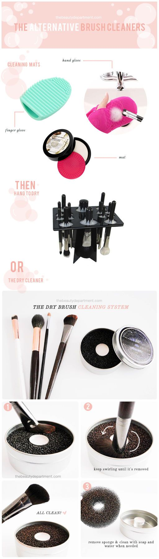 Makeup Brush Cleaning Sponge No Water Needed