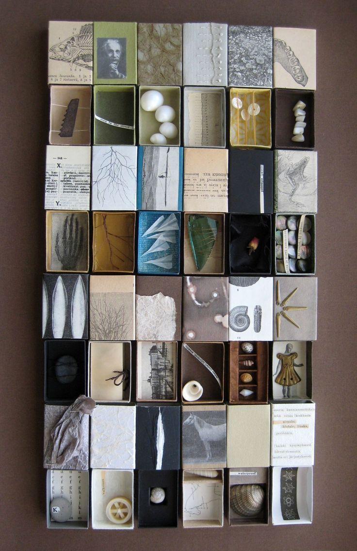 Kunst mit Streichholzschachteln (die Dollar Tree trägt - sie sind in der ... - Mae - Kreative und originelle Ideen