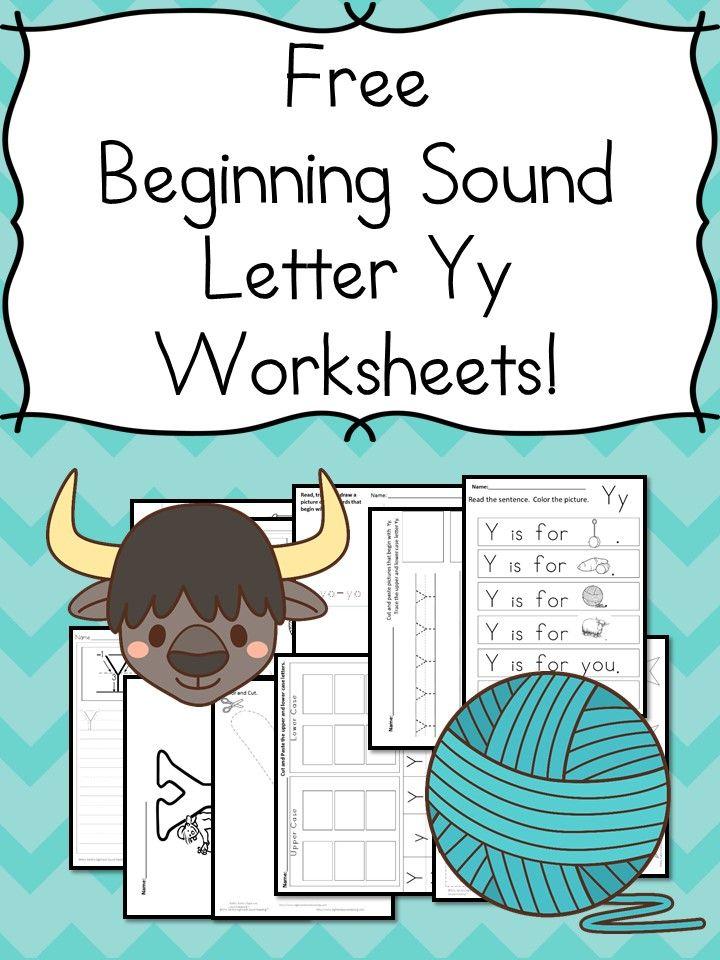 18 Free Beginning Sound Letter Y Worksheets - Easy Download ...