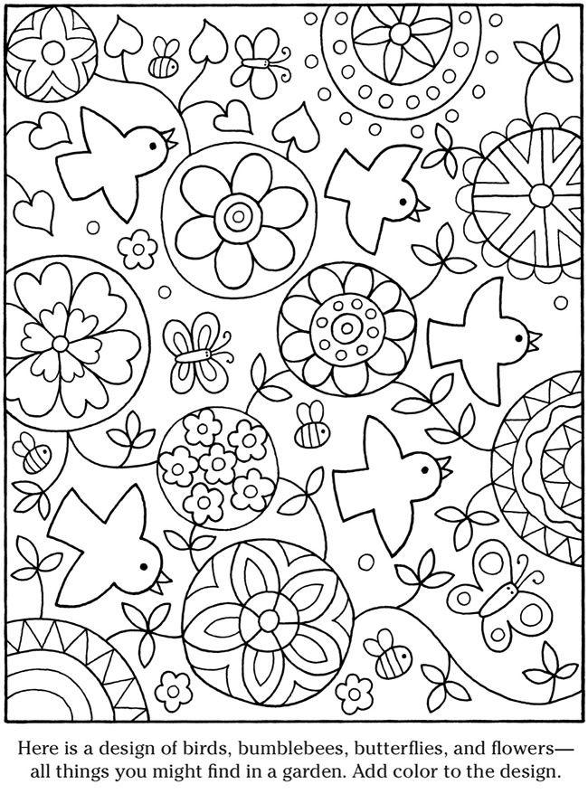 Pingl par lilach t sur spring decorations pinterest - Coloriage mandala printemps ...