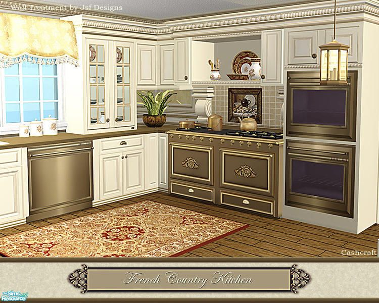 this is a set recolor of the traditional inspired kitchen meshes
