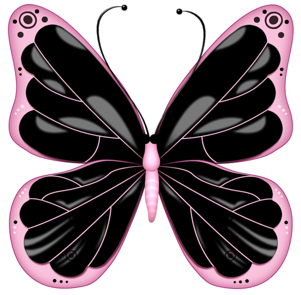 Black And Pink Transparent Butterfly Clipart Butterfly Clip Art Butterfly Art Pink Butterfly