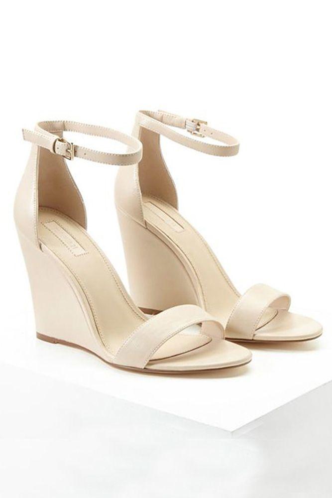 30 Wedge Wedding Shoes To Walk On Cloud | Wedge wedding shoes ...