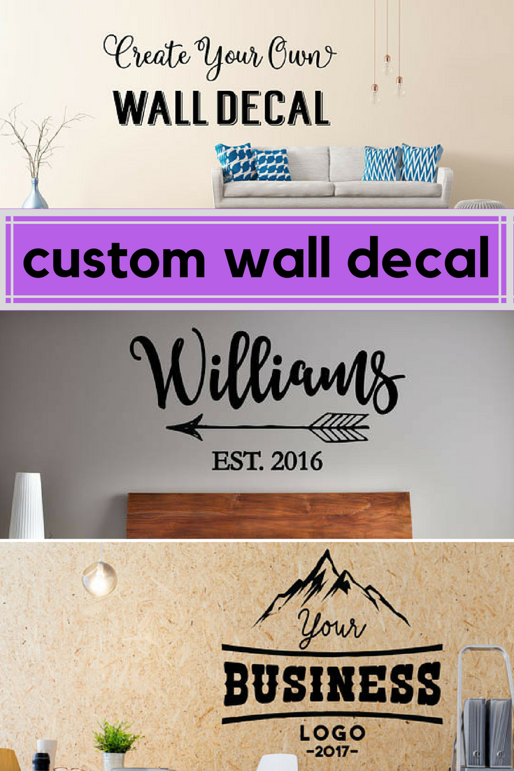 $6.99 Custom Wall Decal - Create Your Own Wall Decal - Custom Decal - Custom Wall  sc 1 st  Pinterest & $6.99 Custom Wall Decal - Create Your Own Wall Decal - Custom Decal ...