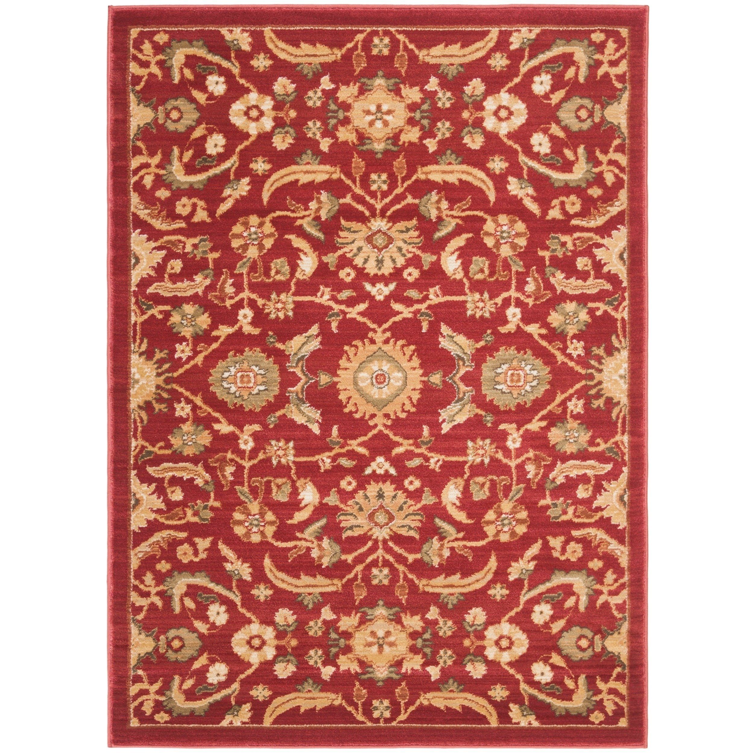 Safavieh Oushak Red Gold Area Rug 4 X 5 7 4 X 5 7 Red