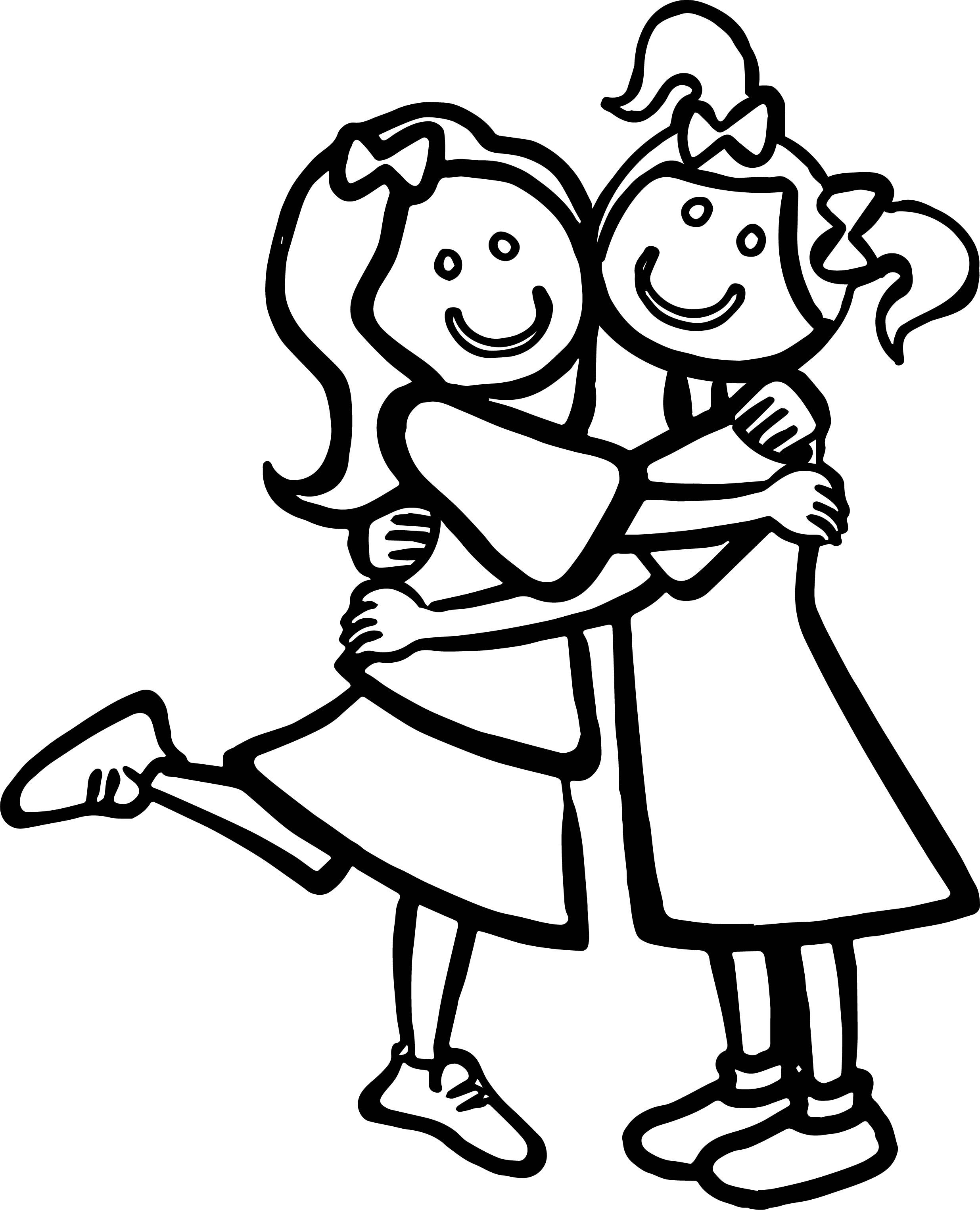 Just Girls Best Friends Coloring Page Coloring Pages For Kids Frog Coloring Pages Heart Coloring Pages