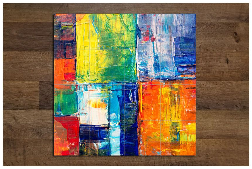 Terrific Multi Color Abstract Painting 02 Tile Mural Tile Photo Complete Home Design Collection Epsylindsey Bellcom