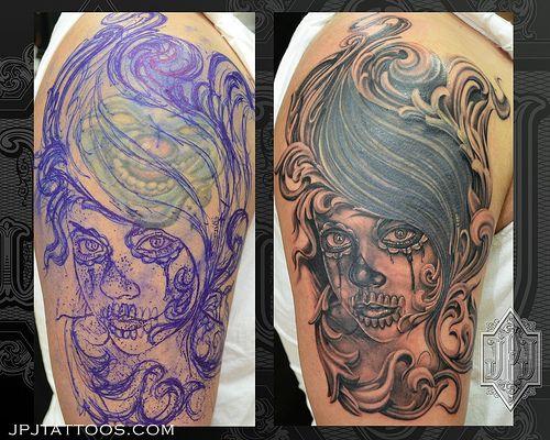 7 Skull Cover Up Tattoos Skullspiration Com Skull Designs Art Fashion And More Cover Up Tattoos Tattoos Cover Tattoo