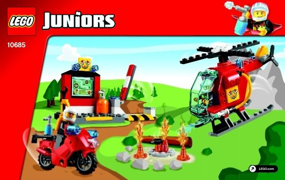 Junior Fire Suitcase Lego 10685 Lego Lego Junior Sets Lego Instructions