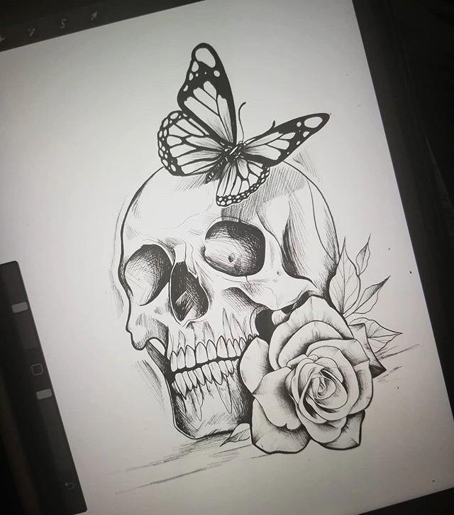 Geometrico De Inspiracion Inkstinct Arte Del Craneo Tatuajes De Arte Corporal Dibujos A Lapiz Rosas