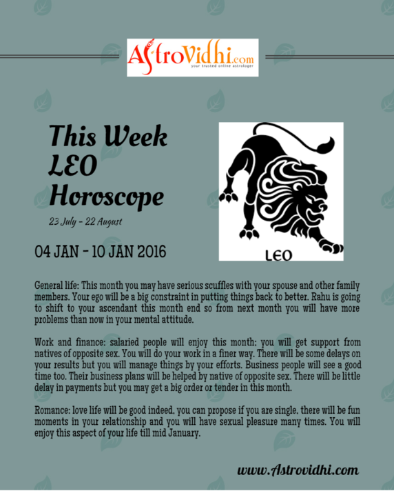 horoscope weekly love leo