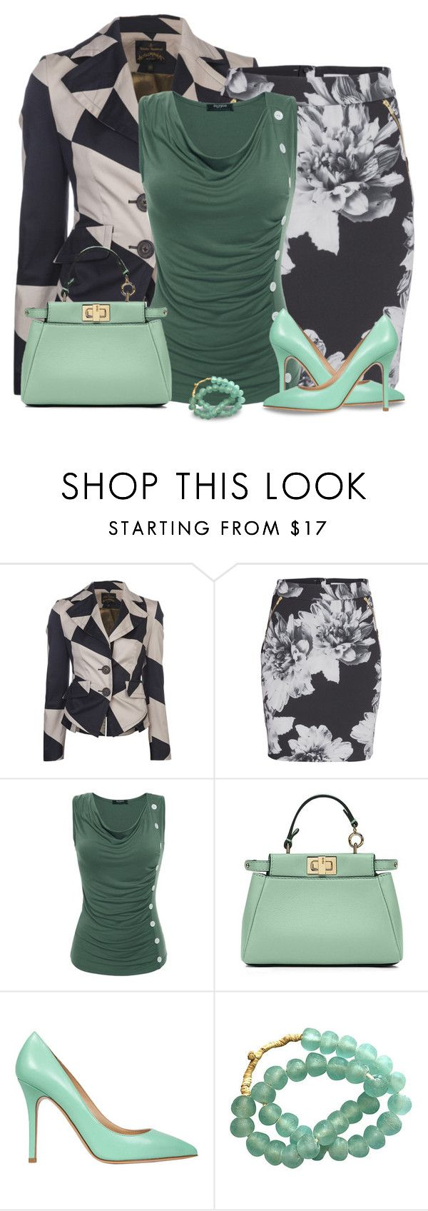 """Vivienne Westwood jacket"" by kamkami ❤ liked on Polyvore featuring Vivienne Westwood Anglomania, Fendi and Semilla"