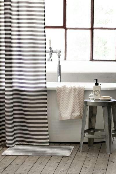 zara home striped shower curtains