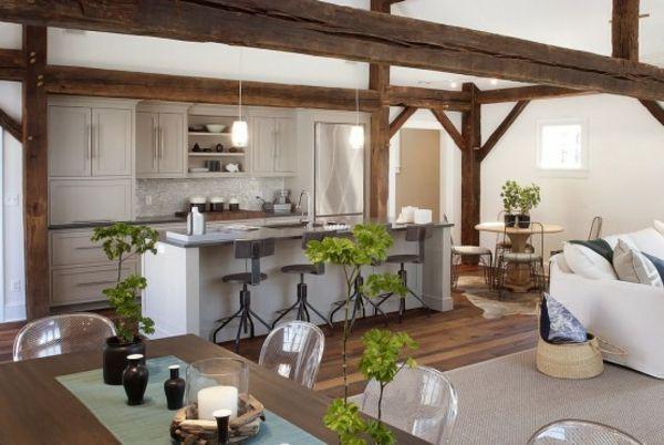 Holzbalken In Der Küche   Google Suche