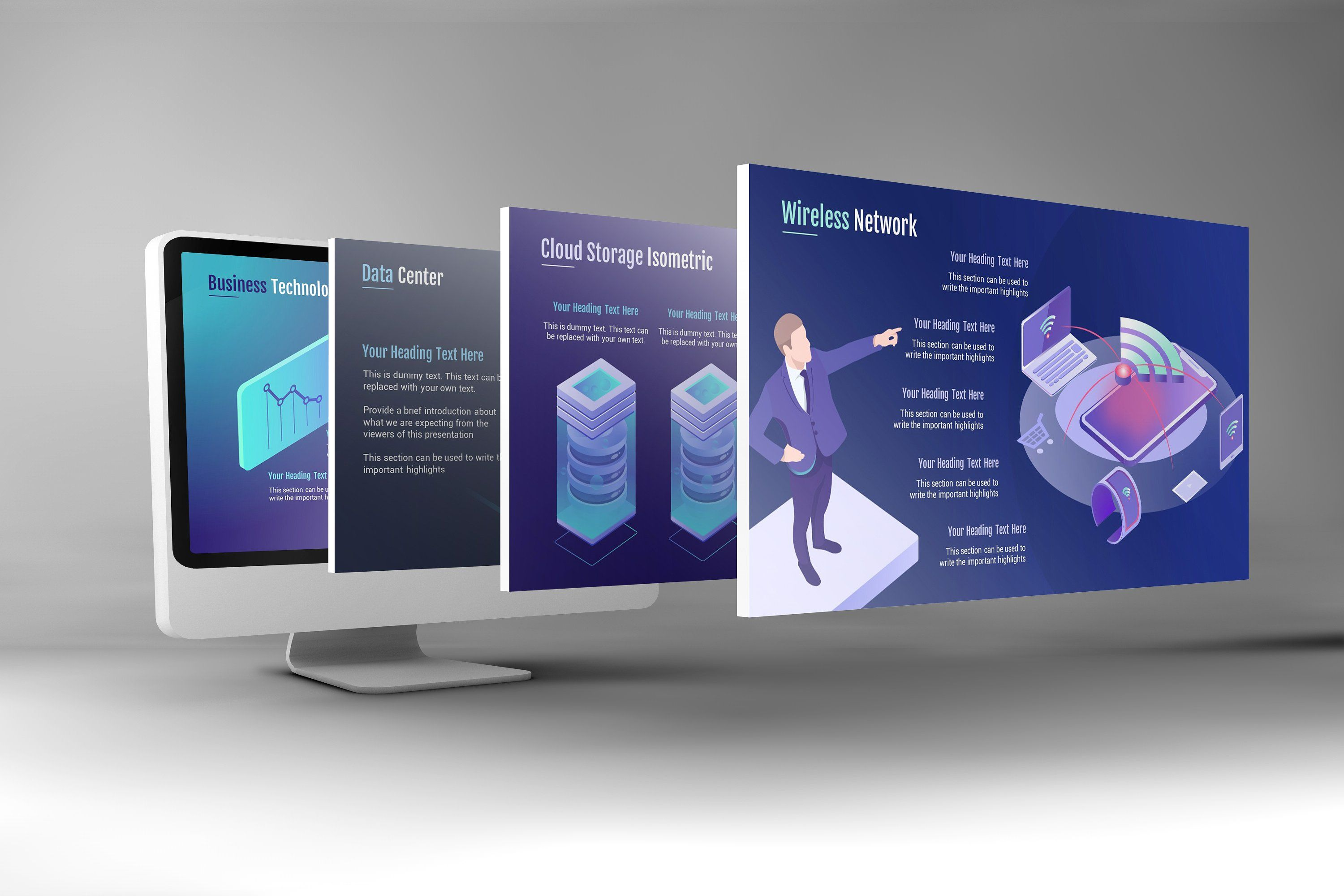 Smart Technology Keynote Template By Renure On Creativemarket The World Of Is Moving Too