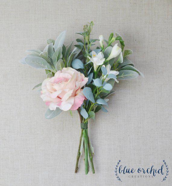 Bridesmaid Bouquet, Boho, Wedding Flowers, Silk Flowers, Artificial Wedding Flowers, Boho Bridesmaid Bouquet, Wedding Flower Set, Pastel #bridesmaidbouquets