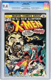 X Men 94 Marvel 1975 Cgc Nm 9 4 Off White To White Pages Debut Of The New X Men In This Series Second Appearances Of Coloss Rare Comic Books Comics X Men