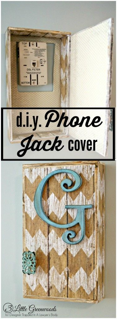 GENIUS! Come learn how to hide a phone jack with this easy tutorial by 3 Little Greenwoods for Designer Trapped in a Lawyer's Body!