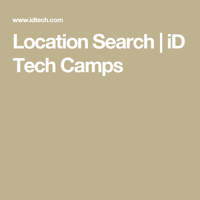 Location Search | iD Tech Camps