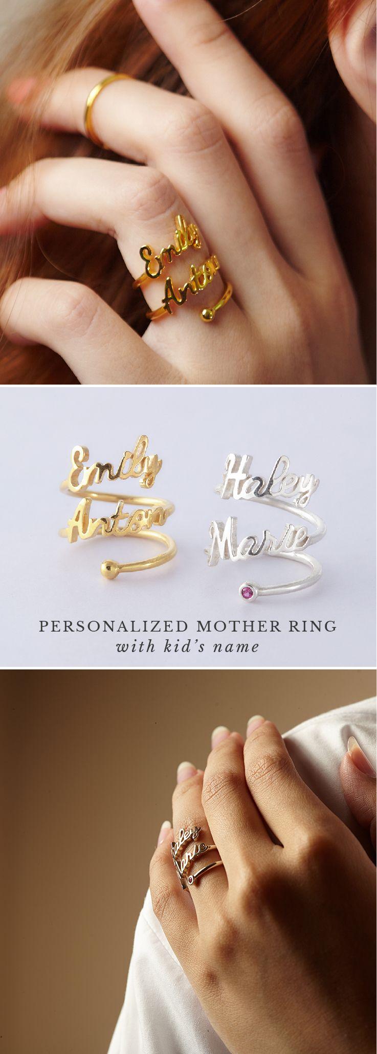 gold name rings • my name ring