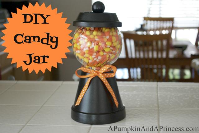 A Pumpkin And A Princess Crafts Recipes Home Decor Family Activities Diy Halloween Candy Jar Fall Halloween Crafts Diy Halloween Candy