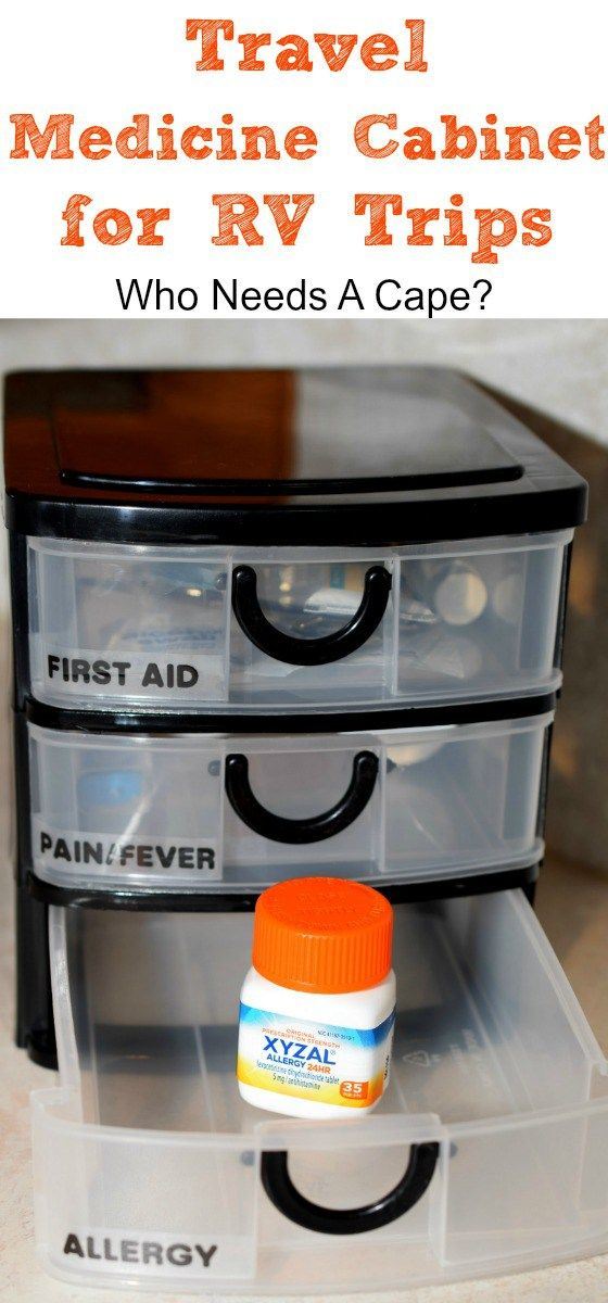 Travel Medicine Cabinet for RV Trips - Who Needs A Cape?