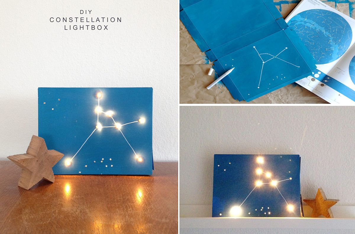 Diy Crafts That Add Starry Space Themed Brilliance To Your Home Cool Diy Projects Home Diy Diy