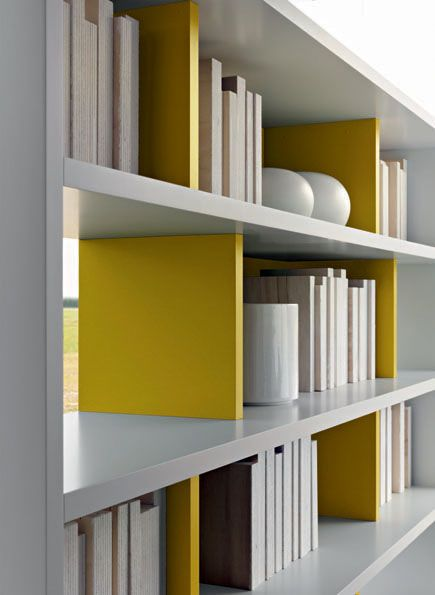 Contemporary modular lacquered bookcase - 505 by Nicola Gallizia ...
