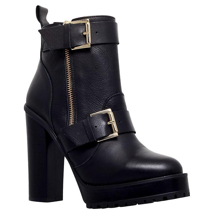 KG Kurt Geiger Womens Sasha Heeled Leather Ankle Boots