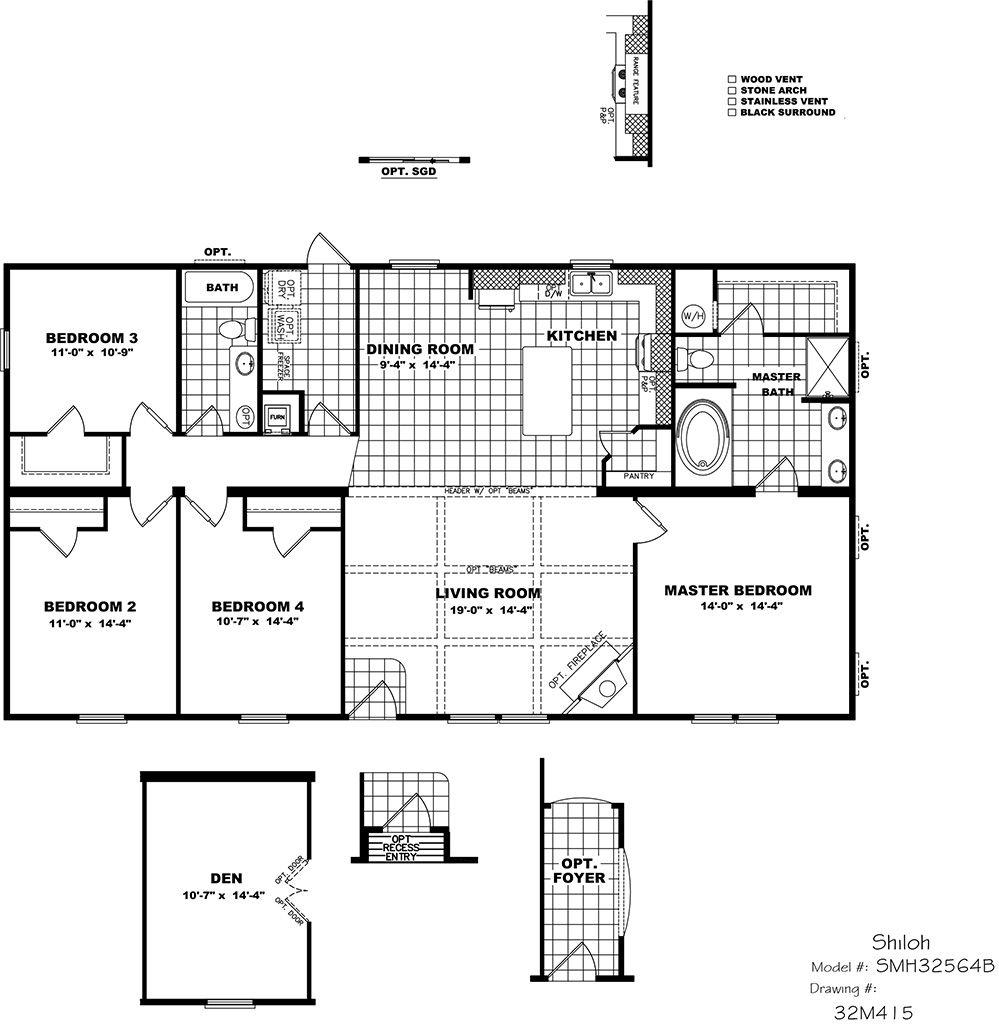 Mobile Home Floor Plans, Basement House