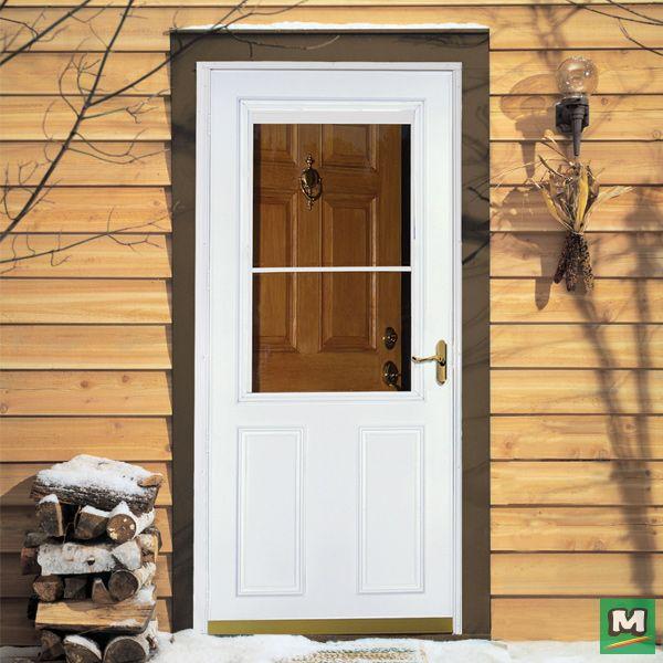 Enjoy A Summer Breeze Or Block Out Winter Winds With A Larson Timberline Storm Door Unlike Other Doors This Storm Storm Door Retractable Screen Screen Door