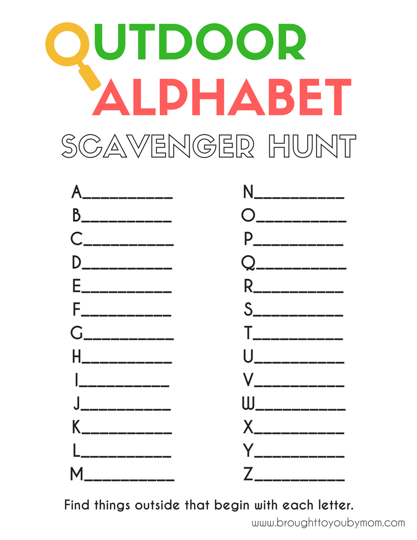 Avoid summer learning loss with this fun Outdoor Alphabet ...