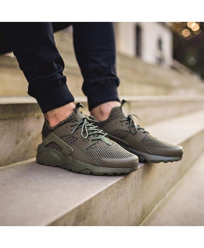 reputable site c3d37 98426 Nike Air Huarache Ultra Breathe Mens Trainers In Olive
