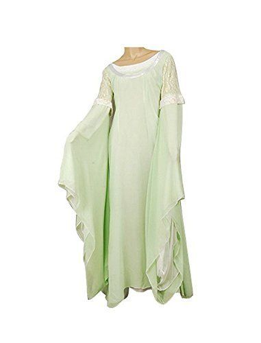 Delic The Lord of the Rings Arwen Light Green Gown Dress Halloween - green dress halloween costume ideas