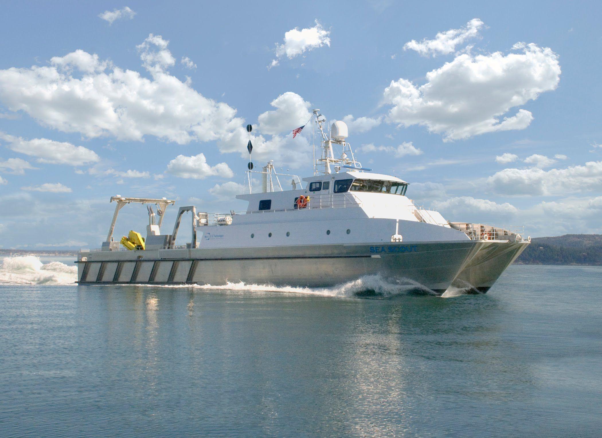Aluminum Catamaran Work Boat Survey Vessel