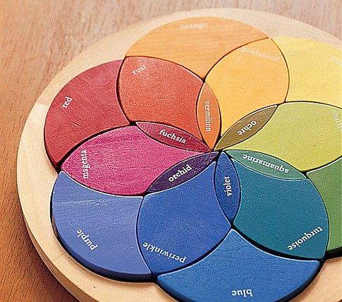 Color Wheel Puzzle Color Puzzle Wooden Puzzles Kids Toys