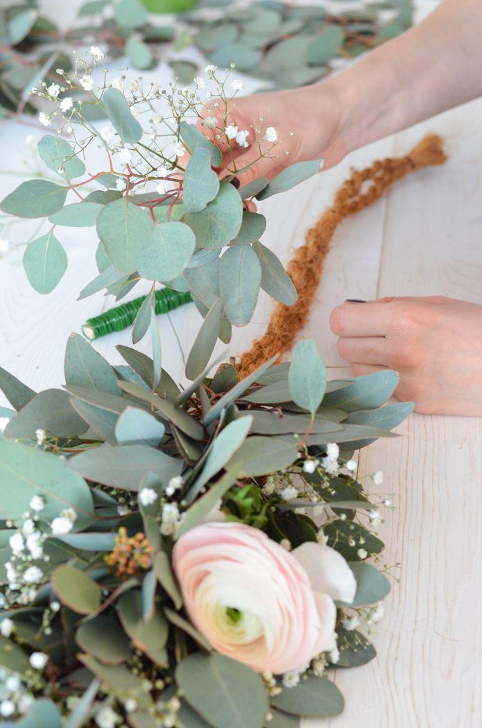 Eukalyptushochzeit – Teil 2: Binden Sie die Tischgirlande selbst