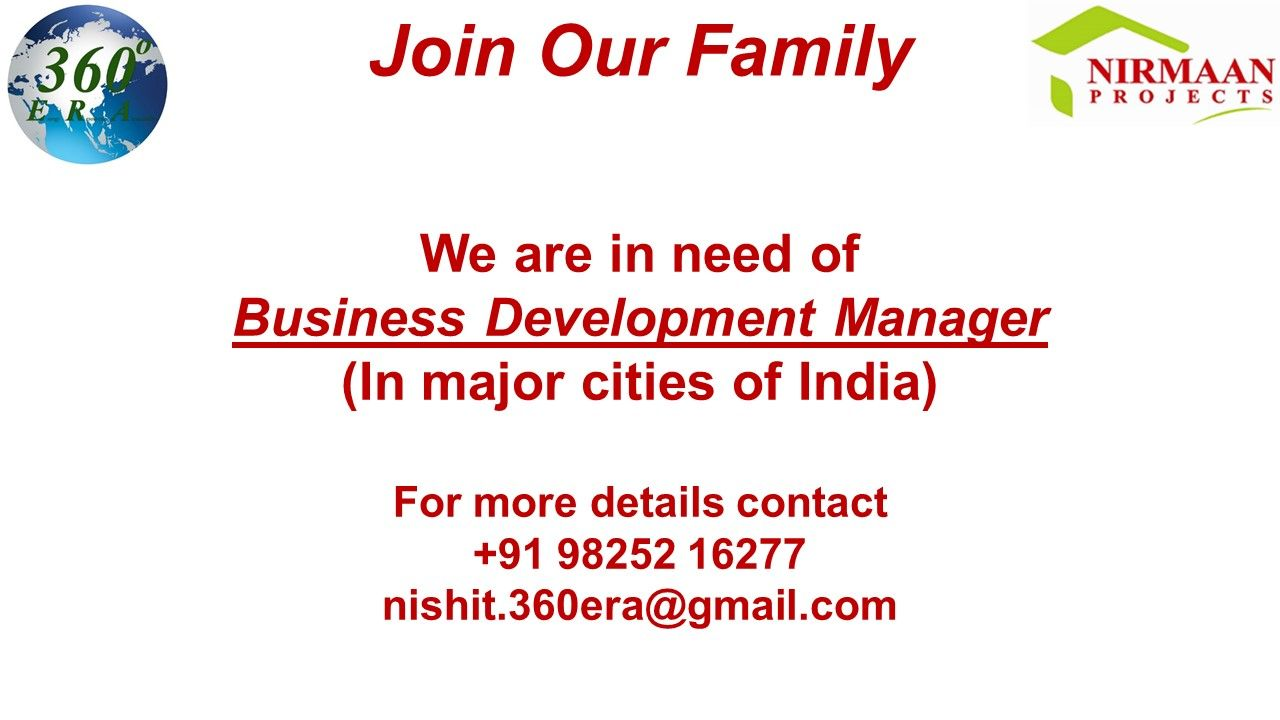 We 360ERA are in need of Business Development Manager.